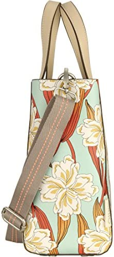 Oilily Damen Jolly Ornament Handbag Mhz Henkeltasche, Türkis (Light Turquoise), 13x25x36 cm