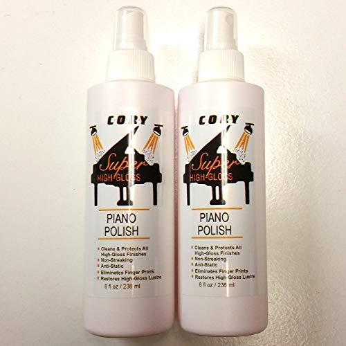 Cory Super High Gloss Piano Polish Value Pack - Two 8 oz bottles (Polish Piano)