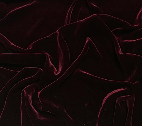 Iridescent Deep Red - Silk Velvet Fabric