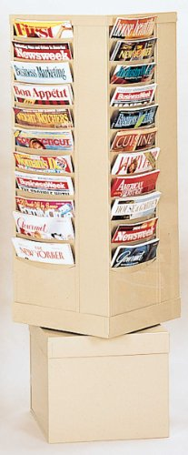 Durham 410-54 Putty Cold Rolled Steel 44 Pocket Rotary Literature Rack, 14-1/8
