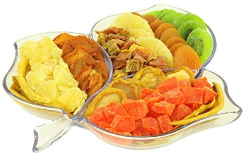 Gourmet Assorted Fresh Dried Fruits Tray, Gift Basket (Leaf Shape) (Vegetable Gift Basket)