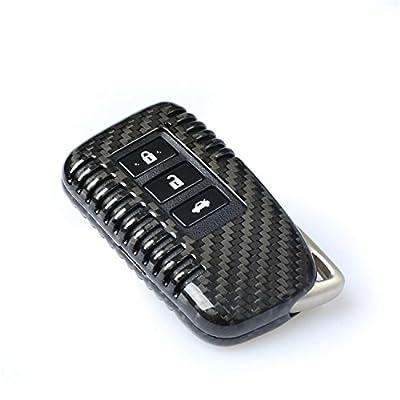 100% Carbon Fiber Case For Lexus Key Fob, Genuine Carbon Fiber Cover For Lexus ES GS IS LX NX RX RC RC-F Smart Fob Remote Key, Men's Car Key Fob Case Women's Fob Cover - Black - 3 Buttons & 2 Buttons: Automotive
