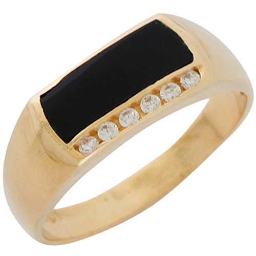 sic Design Onyx and Genuine Diamonds Accented Mens Ring ()