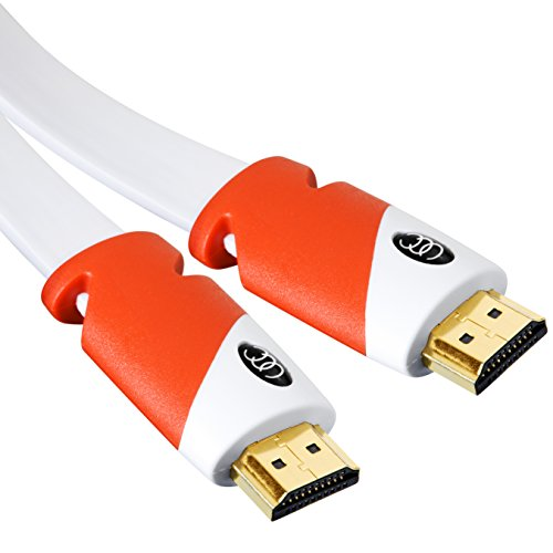Flat HDMI Cable 40 ft - High Speed HDMI Cord - Supports, 4K Video at 60 Hz, 3D, 2160p - HDMI Latest Standard - CL3 Rated - 40 Feet