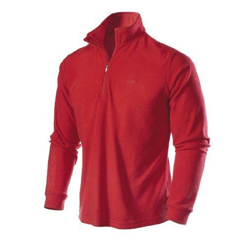 Medico Herren Ski Shirt, Fleece, langarm, Reißverschluss (weinrot, XL)