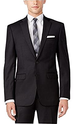 Calvin Klein Extreme Slim Fit Charcoal Solid Two Button New Men's Sport Coat