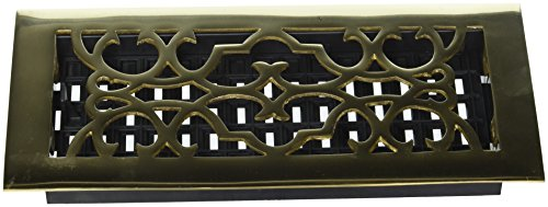 Floor Register Victorian 10 (Decor Grates A410 4-Inch by 10-Inch Victorian Floor Register, Solid Brass)