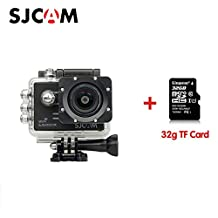 Original SJCAM SJ5000X Elite Sport Action Camera 4K 1080P WiFi Waterproof 170°Wide Angle Lens 12MP SONY IMX078 Gyro AV or HDMI Out And OSD Enabled with 32G TF Card Black