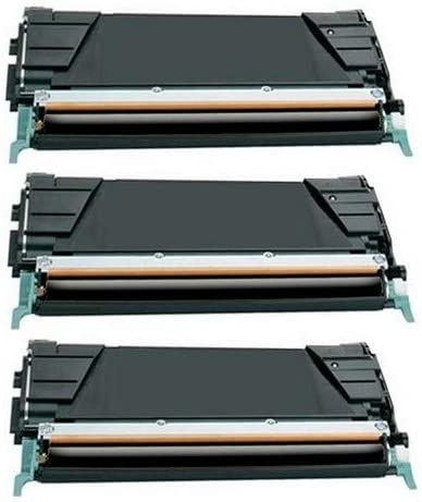 C746H4KG/_3PK 3//PK-12000 Page Yield SuppliesMAX Compatible Replacement for Lexmark C746//748 GSA Black Toner Cartridge