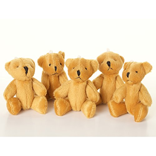 NEW 10 X Cute And Cuddly Little BROWN Teddy Bear - Gift Present Birthday ()