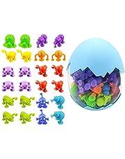 YJYQ Sugkopp leksaker, 36 st silikon byggstenar, kreativa gör-det-själv-block leksaker monterade sugkoppar pedagogiska leksaker för barn gåvor