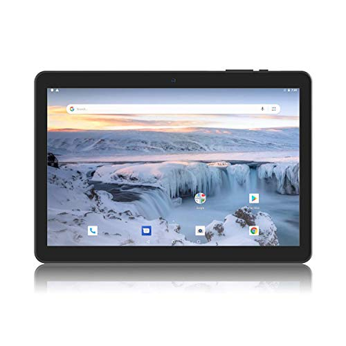 Android Tablet 10 Inch, Android 8.1 Go Unlocked Tablet PC with Clear Proof-Case, SIM Card Slot, 3G Phone Support, Quad Core, 1.3GHz, 16GB, 2MP+5MP Dual Camera, WiFi, Bluetooth, GPS (3g Sim Tablet Card)