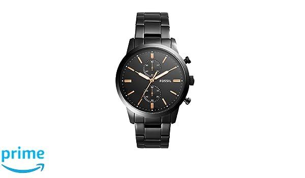 Fossil Reloj Cronógrafo para Hombre de Cuarzo con Correa en Acero Inoxidable FS5379: Amazon.es: Relojes