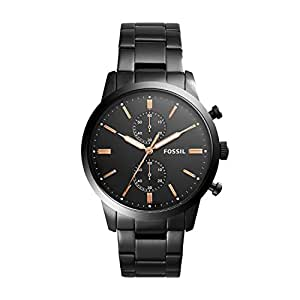 Fossil Men's Townsman Analog Quartz/Chronograph Black Watch, (FS5379)