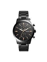 Fossil FS5379 Reloj Análogo para Hombre, color Negro