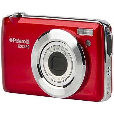 Polaroid i20X29 Digital Camera (Red) with 32GB Card + Case + Flex Tripod + Reader + Kit