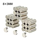 Refrigerator Magnets, Linlinzz 35 PCS Round Cylinder Magnets for Fridge Door Whiteboard Magnetic Map Magnetic Screen Door Bulletin Boards - 8X3mm