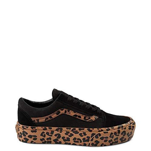 - Vans Unisex Authentic Skate Shoe Sneaker (11.5 Women/10 Men, Black/Leopard 7434)