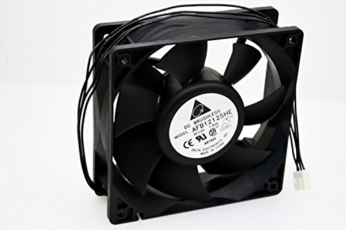 Delta AFB1212SHE-PWM 120mm x 38mm 4pin PWM+Tac Sensor Extreme Hi-speed 3700 RPM 151 CFM Case Fan - NEW - Retail - AFB1212SHE-PWM
