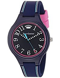 Juicy Couture Women's 'Day Dreamer' Quartz Plastic and Silicone Casual Watch, Color:Blue (Model: 1901563)
