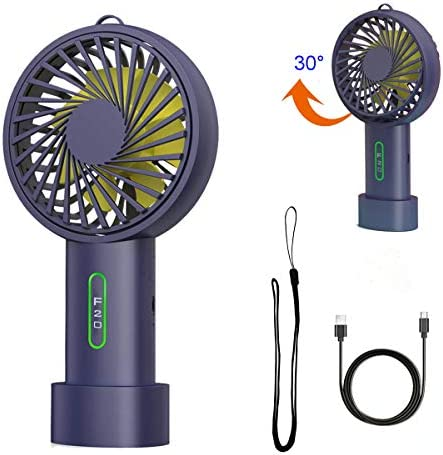 Mini Handheld Fan USB Portable Desktop Outdoor Indoor Fan with Lanyard Chargeable Battery Operated Cooling Shake Fan for Office Room Outdoor Household Traveling