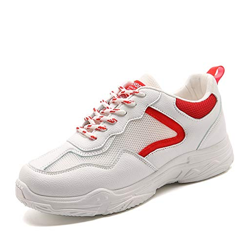 Blanco Red Zapatos Leisure Blancos Shoes Deportes Breathless Salvaje Verano Shoes Rojo 39 red 35 Running Las KOKQSX white w0OqU1E