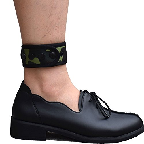 DDJOY Ankle Strap for Compatible with Fitbit & Garmin, Ankle Band for Compatible with Charge 2/3 Alta/HR Flex/2 Fitbit One or Garmin Vivofit/2/3/4, Ankle Band for Men and Women (Green Camo, Medium)