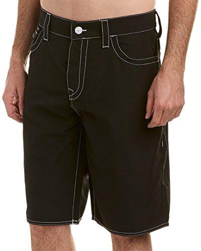 (True Religion Big T Board Shorts (Black, 40))