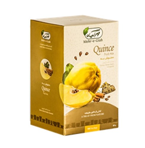 Quince Fruit Mix Tea, Great for Soothing Sore Throat and Cold, 18 tea bags