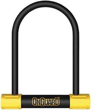 Onguard Bügelschloss Bulldog Std 8010 Mit Schlüssel Schwarz 11 5 X 23 Cm Sport Freizeit
