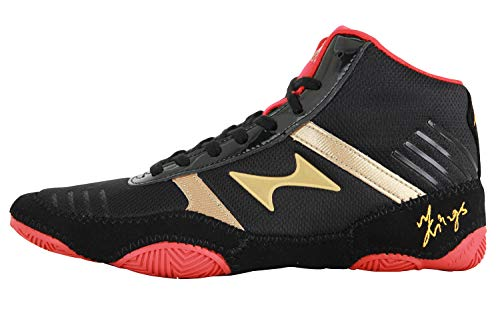 buy popular 7bced f619f HEALTH Kids Women s Wrestling Shoes Breathable Lightweight Sporting Shoes  Black   Red 7878