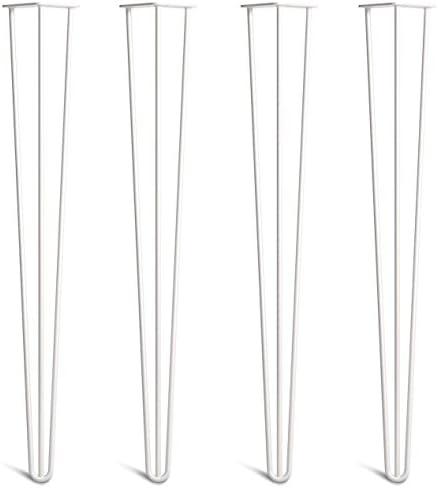 En Todos Los Acabados Desde 10 Hasta 86cm Robustas En Acero 10mm Doble Soldadura Estilo Moderno Retro Mediano Siglo 4 Patas A Horquilla Para Mesa Con Tornillos Gu/ía Y Bases Protectoras Incluidas