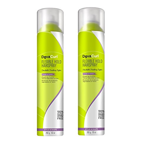 DevaCurl Flexible Hold Styling Hairspray, 10oz 2 Pack