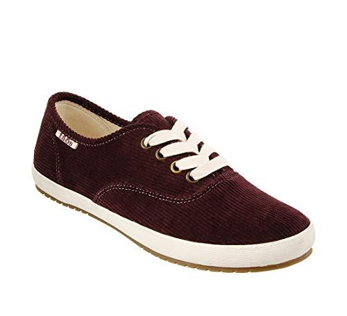 - Taos Footwear Women's Guest Star Bordeaux Cord Canvas Fashion Sneaker 7 M US