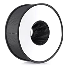 """Neewer® 18""""/45cm Round Universal Collapsible Magnetic Ring Flash Diffuser Soft Box for Canon, Nikon, Yongnuo, Sony(Simplified Version)"""