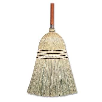 "Genuine Joe GJO58561 Corn Fiber Janitor Manual Broom, 58"" Handle Length, 11"" Bristles"
