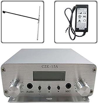 CZH CZE-15A - Transmisor de radio FM estéreo PLL, 15 W, 88 ...