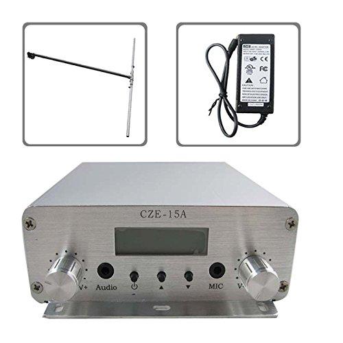 CZH CZE-15A 15W 88MHz~108MHz FM Stereo PLL Radio Broadcast Transmitter  DP100 Dipole Antenna