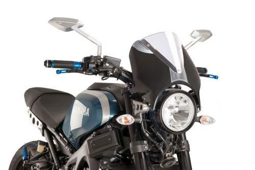 G/én/érique Puig 9560W Pare-Brise RetroVision Compatible avec Yam XSR 700 2016- Car?nage Noir Pare-Brise Transparent Set XSR900 2016