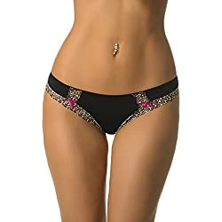 Velvet Kitten Cats Meow Bikini #134253 (Medium, Black)