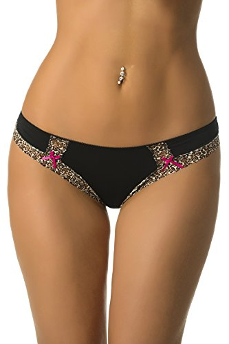 Velvet Kitten Cats Meow Bikini #134253 (Medium, Black) (Lace Panties Print)