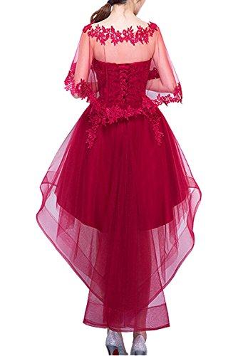 mit Tuell Ballkleider Schnuerung Cocktailkleider Traumhaft Lo Abendkleider Partykleider Damen Hi Orangerosa Spitze Ivydressing wqx1Tv4WHE