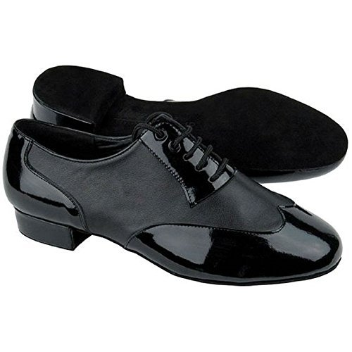 Very Fine Dance Shoes CM100101 Black Leather & Patent (Competition Grade) Size 10.5US
