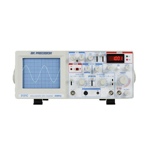 (BK Precision 2121C-EXD 30 MHz Dual Trace Analog Oscilloscope with Frequency Counter, 220V Version)