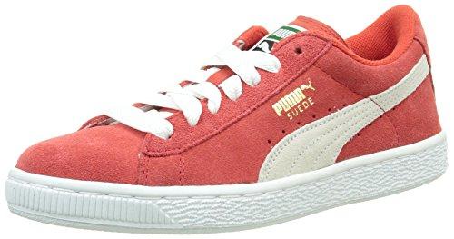 Puma Suede Jr - 35511003 Vit-röd-beige
