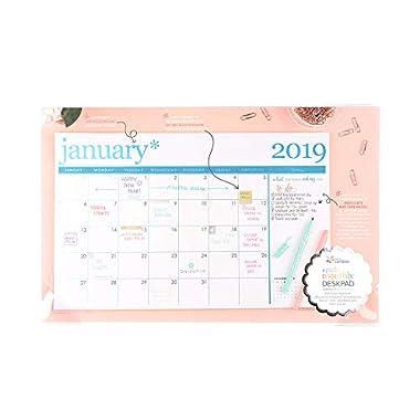 Erin Condren 2019 Metallic Desk Calendar (Including remaining 2018 Months) August 2018 - December 2019
