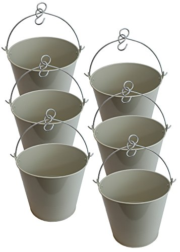 1 Gallon Ice Bucket - Enamel Bucket (rust proof) 1gal for Cleaning and Holding Ice packs of 6