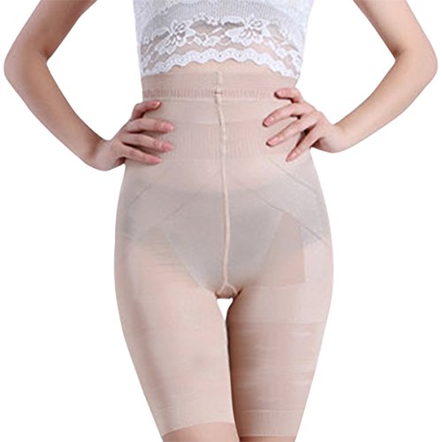 Long Leg Shapewear (Shymay Women's Long Leg Shaper Seamless Tummy Control Hi-Waist Thigh Slimmer, Nude1, Tag Size L=US Size Small)