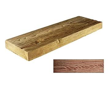 Dunkle Kleine Brett   Holz Beton Effekt Dekorativen Pflasterplatte Für  Garten Und Terrasse