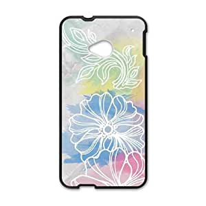 HTC One M7 Cell Phone Case Black Spring Watercolors Cnpvk